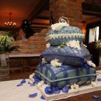 Polštářový svatební dort