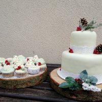 Svatební dort pro lesní vílu