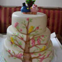 Svatební dort s ptáčky