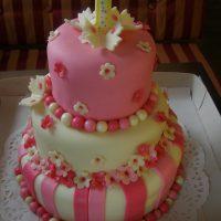 Růžové první narozeniny